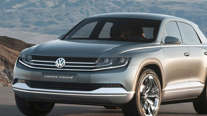 Volkswagen Cross Coupe Concept In Grey Near Hills